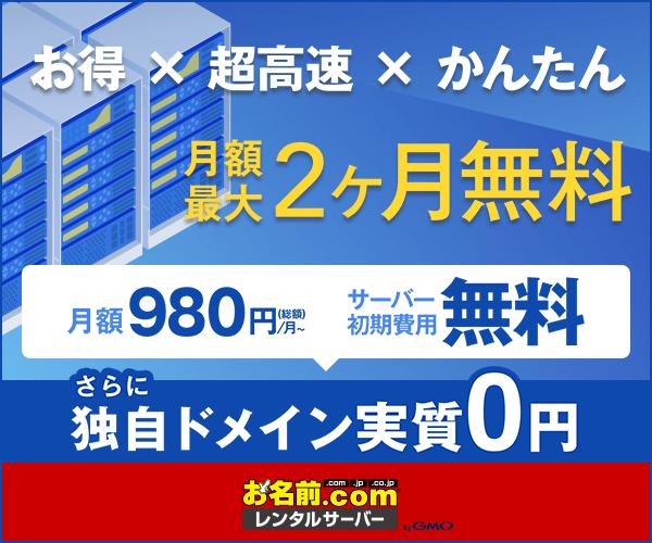 GMOインターネット株式会社【お名前.com レンタルサーバー】申込募集