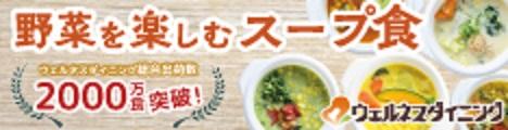 宅配健康食で有名なウェルネスダイニングから!管理栄養士監修の『野菜を楽しむ スープ食』